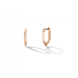 18k Rose Gold Geometric Earrings