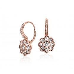 Beautiful Earrings with Diamonds in 18k Rose Gold