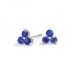 18k White Gold Earrings with Natural Sapphires